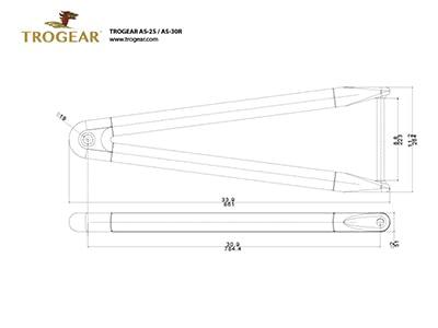 Trogear アジャスタブル バウスプリット - AS25 バウスプリット (Drawing)