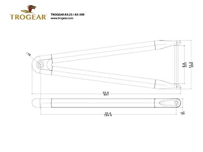 Trogear Adjustable Bowsprit Drawing - AS30R model
