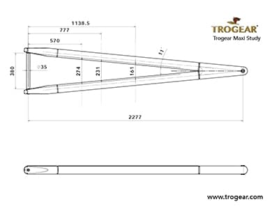 Trogear Adjustable Bowsprit Drawing - MAXI model