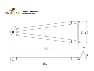 Trogear Adjustable Bowsprit Drawing - AS40 model