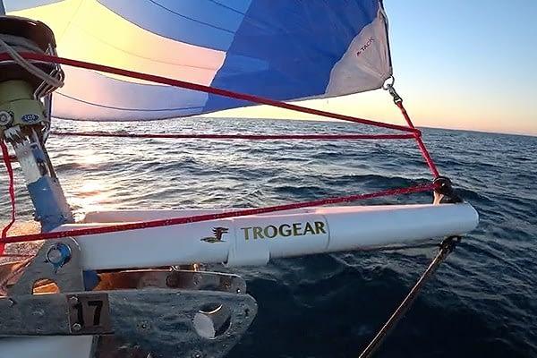 Trogear Adjustable Bowsprit - Custom Solution supplied to a Jeanneau 53