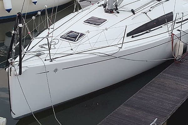 Trogear Adjustable Bowsprit- Side Mounts installation on a Sun Fast 3200