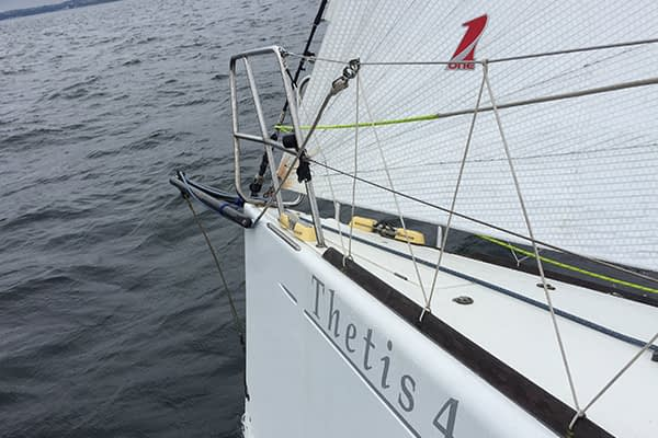 Trogear Adjustable Bowsprit with Through-hull Installation fitted on a Beneteau First 40.7