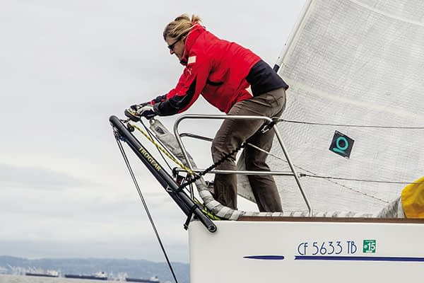 Trogear Adjustable Bowsprit - Overall presentation of the concept