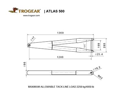 Trogear Adjustable Bowsprit Drawing - ATLAS model