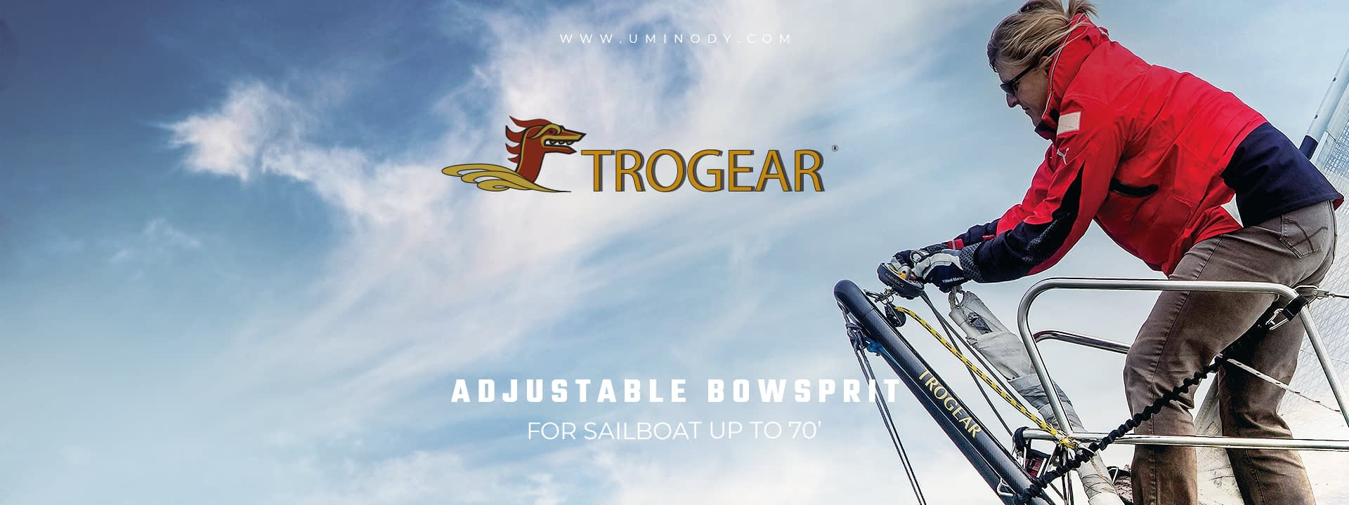 Trogear Adjustable Bowsprit for sailboats up to 70'